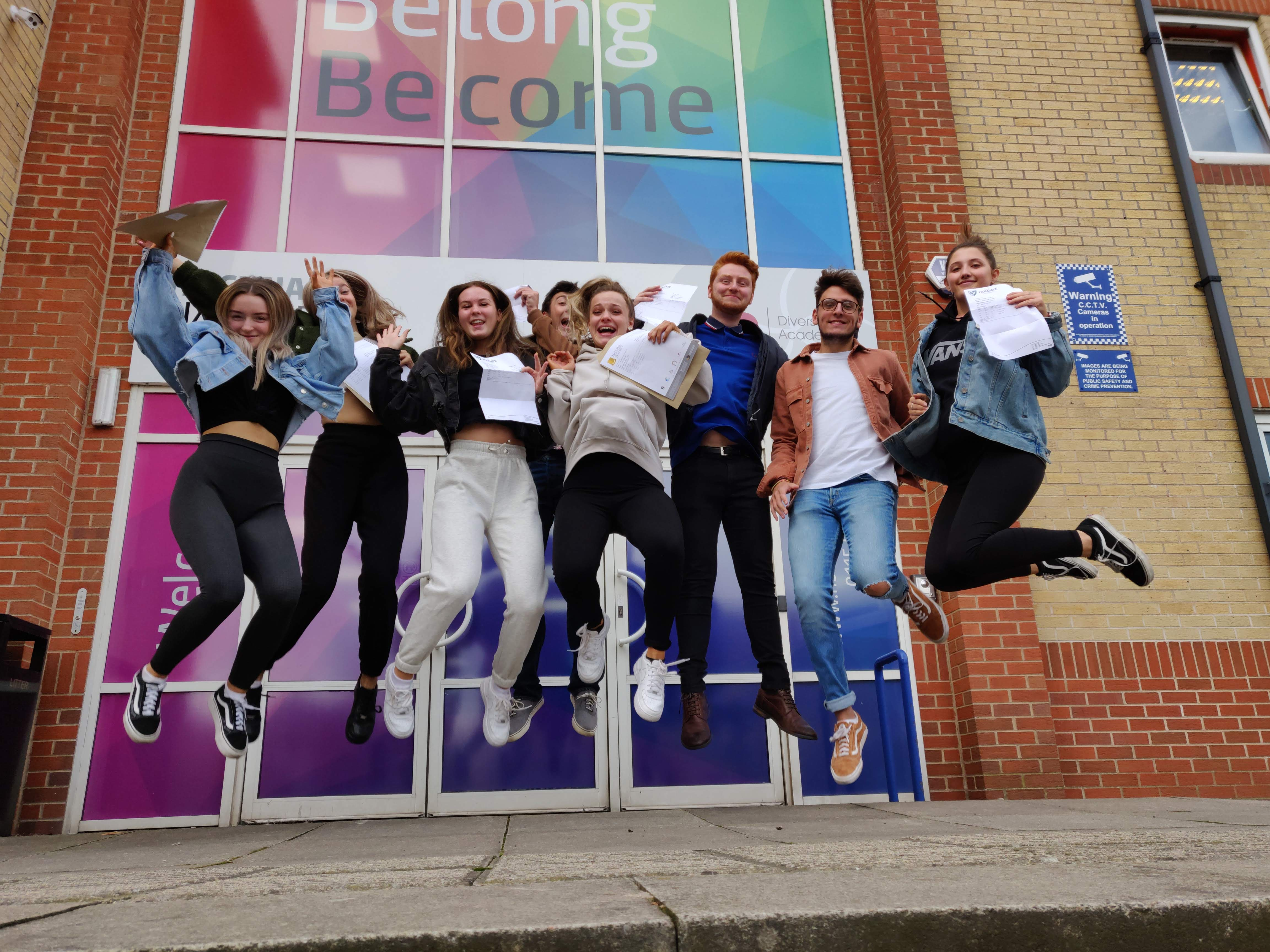 Students celebrate outstanding A Level success