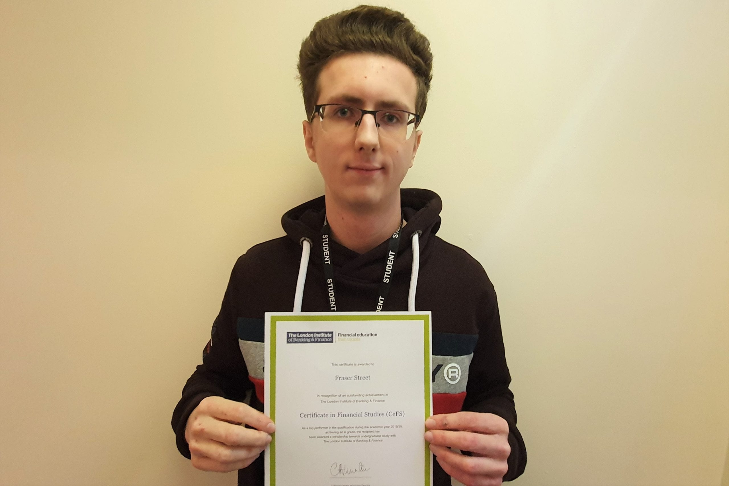 Year 13 student wins finance scholarship prize